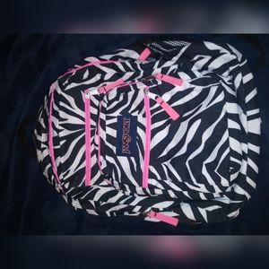 Zebra Big student jansport backpack